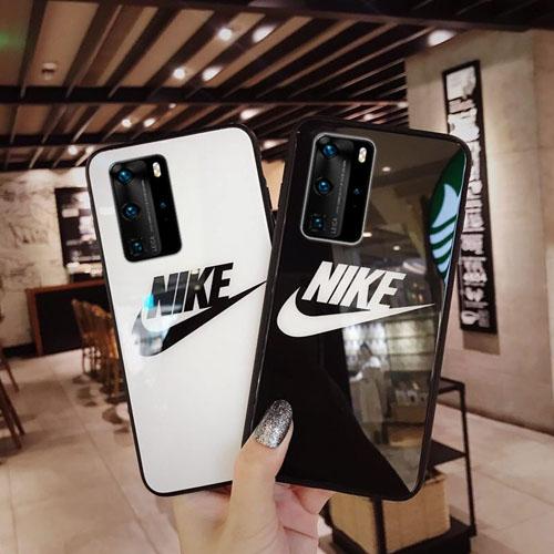 NIKE Huawei P40 Pro ケース 背面ガラス ペア向け