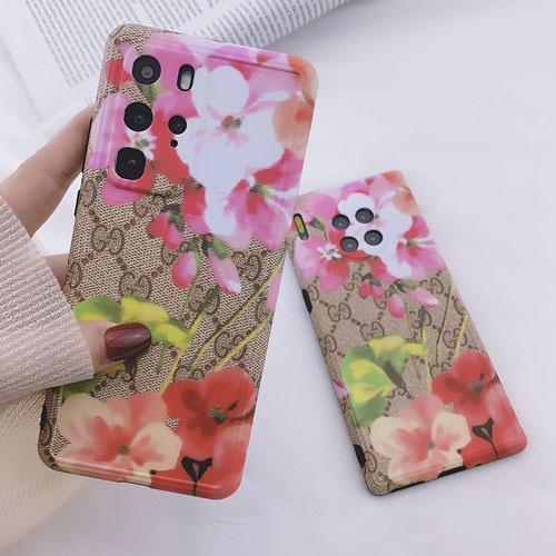 グッチ Huawei P40 Pro ケース 花柄